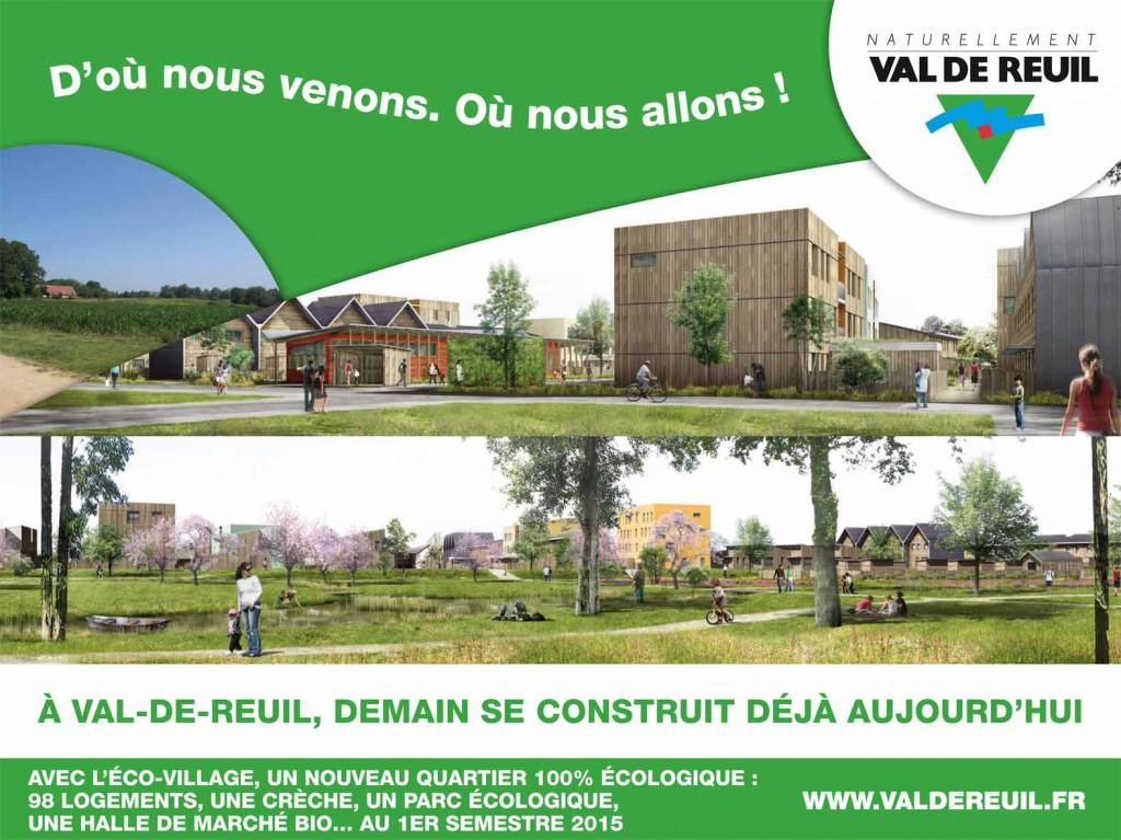 La construction d'un éco-quartier avec 98 logements, une crèche, un parc écologique, une halle de marché bio