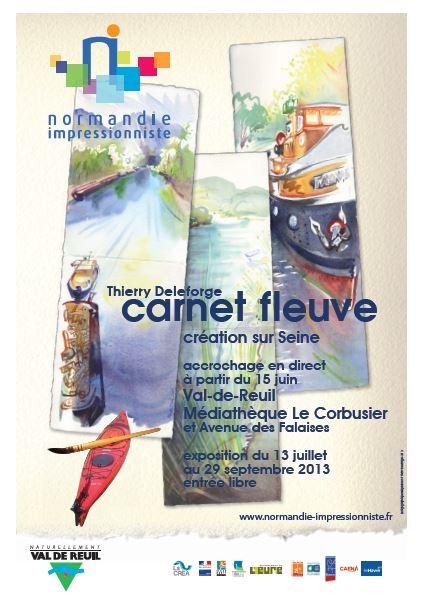 """Thierry Deleforge expose """"Carnet fleuve"""" du 13 juillet au 29 septembre à la médiathèque"""