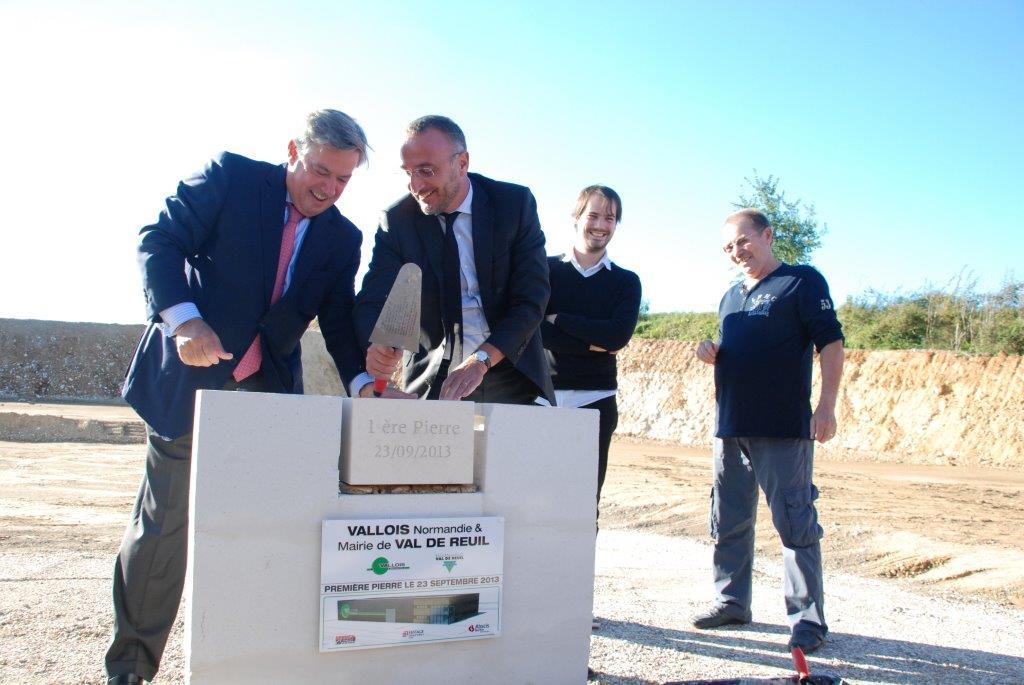 Pose la première pierre de Vallois Normandie, lundi 23 septembre