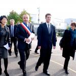 Visite de Fleur Pellerin à Val-de-Reuil