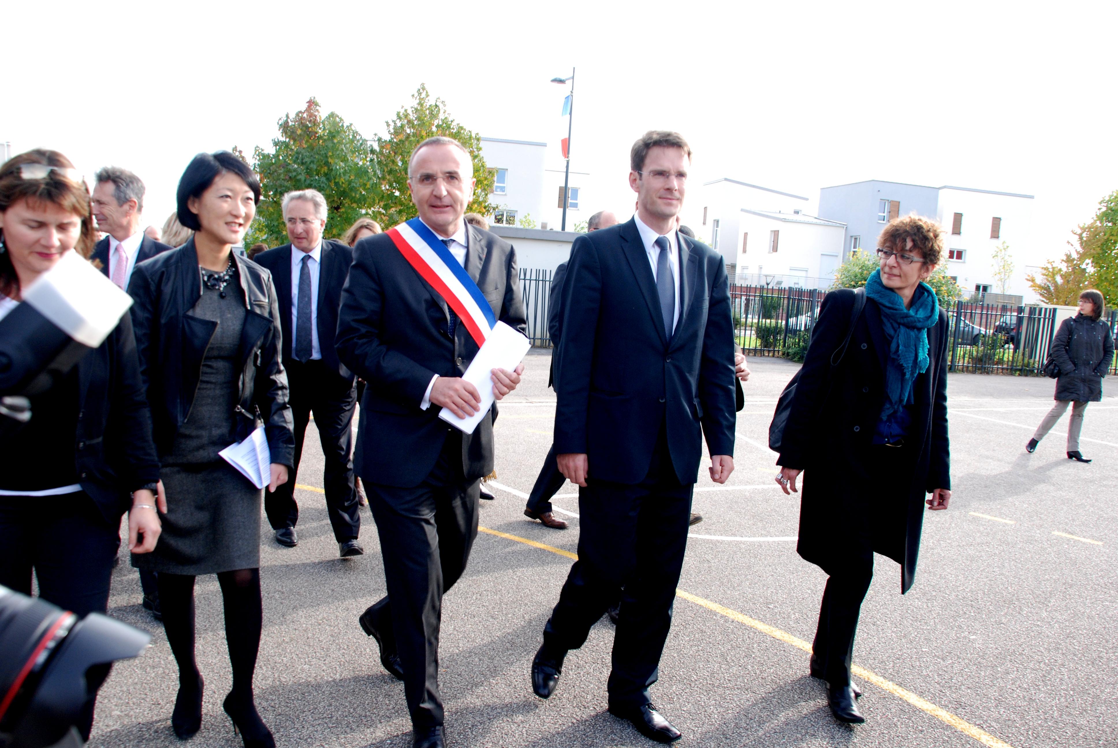 Fleur Pellerin, Ministre des PME, de l'innovation et de l'économie numérique à Val-de-Reuil