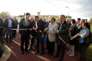 Inauguration des aménagements de sécurité et des liaisons douces sur la chaussée du Vexin et la route des Sablons