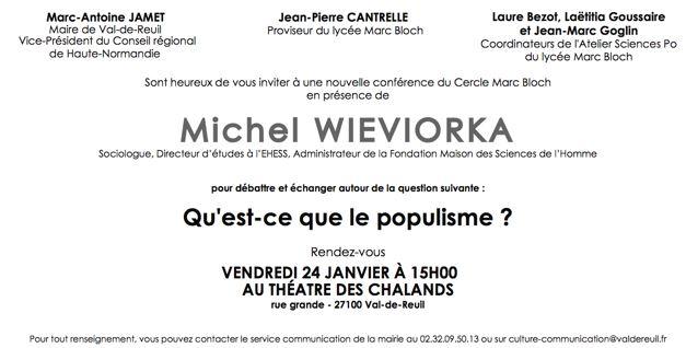 Conférence de Michel Wievorka