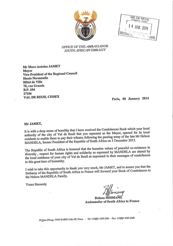 Le courrier de l'Ambassadeur