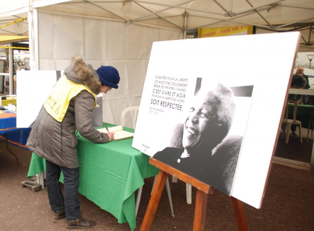 L'hommage à Mandela