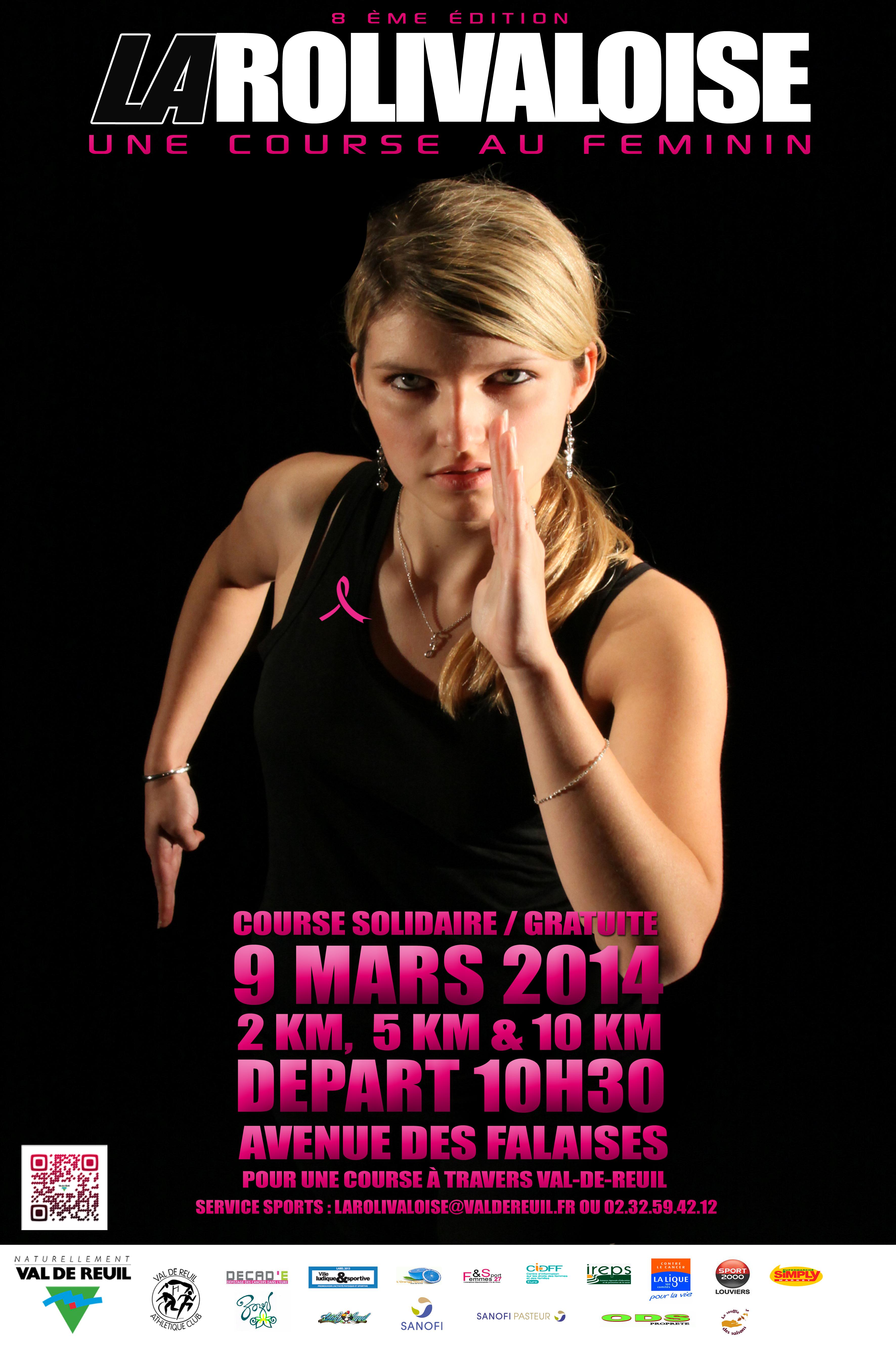 """Mesdames, le 9 mars venez courir """"La Rolivaloise"""""""