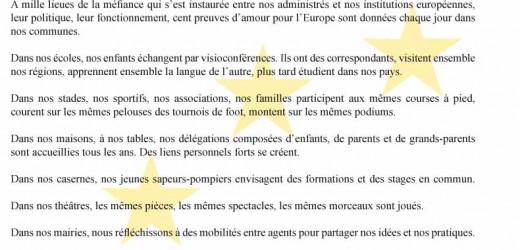 Fête de l'Europe – Déclaration commune