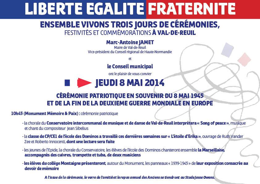Invitation 8 Mai 2014