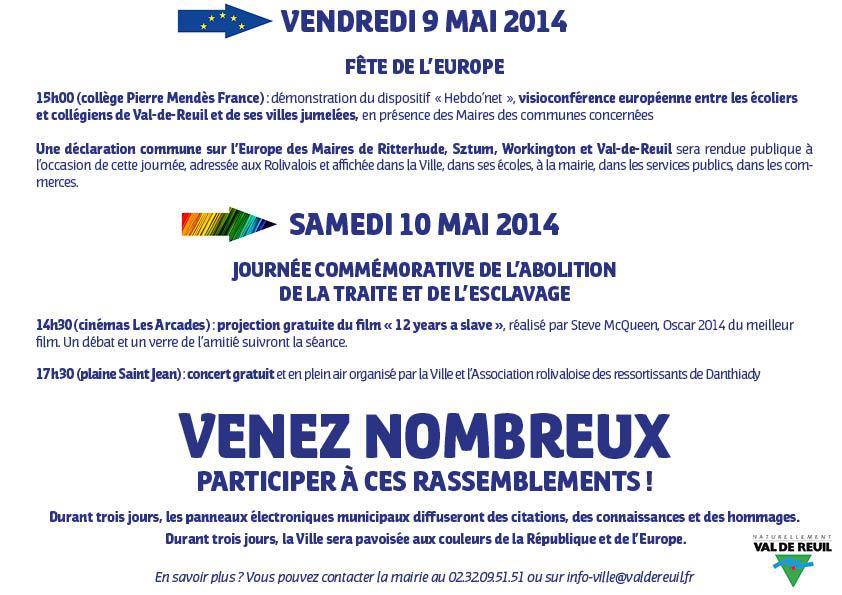 Invitation 9 & 10 Mai 2014