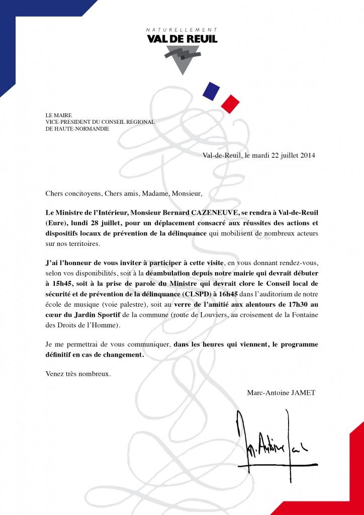 28 juillet 2014 - Invitation