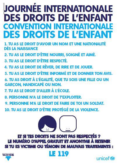 Célèbre Les 25 ans de la Convention des Droits de l'Enfant dans les écoles  LH17