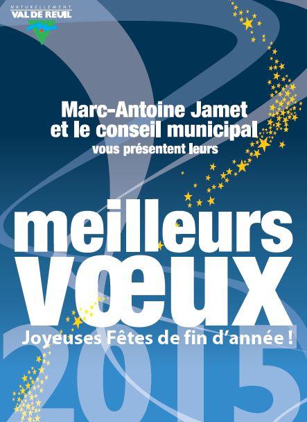 Save the date : Voeux de Val-de-Reuil le jeudi 22 janvier à 18h30 au stade Jesse Owens (attention changement de lieu)