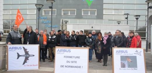 Pour le maintien des activités et de l'emploi sur le site d'Airbus Val-de-Reuil