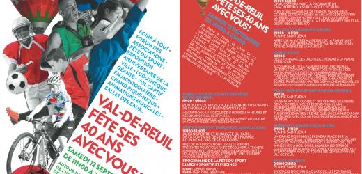 Samedi 12 septembre Val-de-Reuil fête ses 40 ans avec vous !