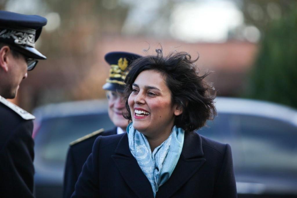 Myriam El Khomri arrive à Val-de-Reuil
