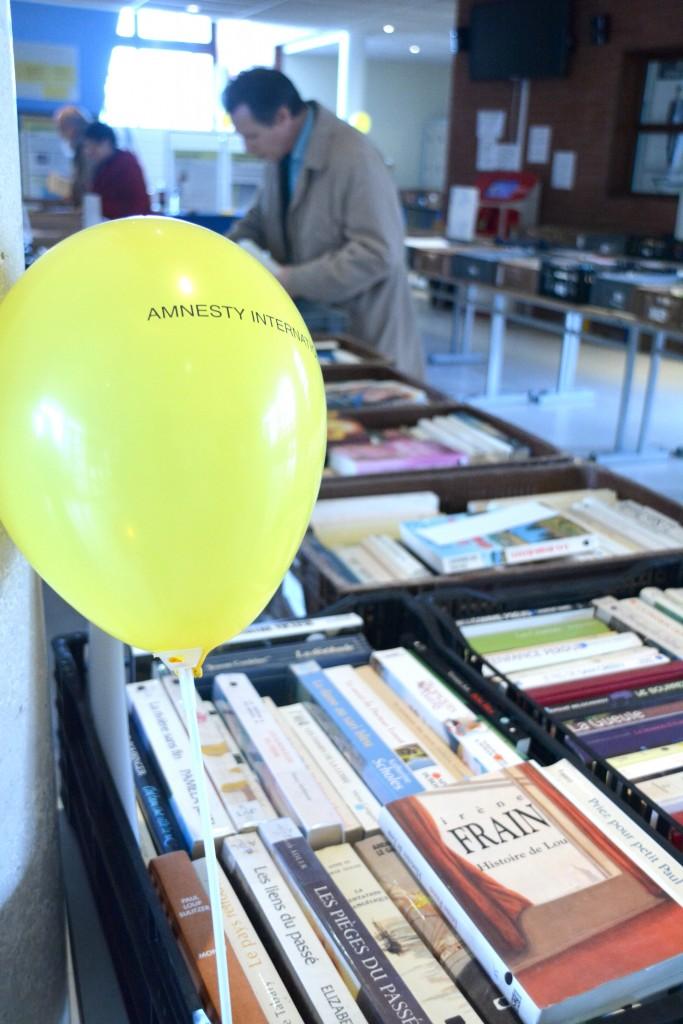 La foire aux livres d'Amnesty International