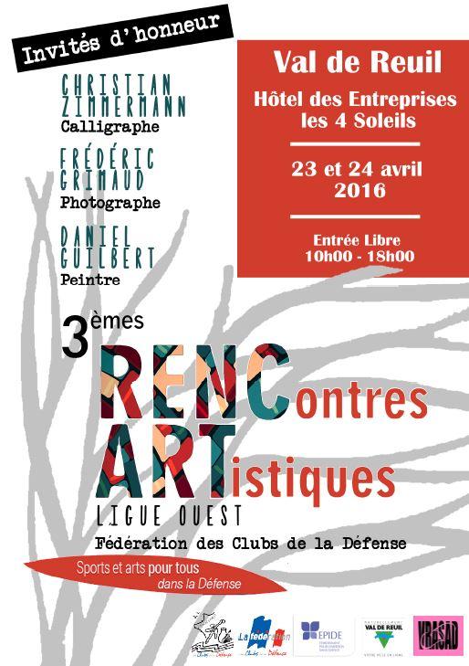 Samedi 23 et dimanche 24 avril venez nombreux aux 3èmes Rencontres Artistiques !