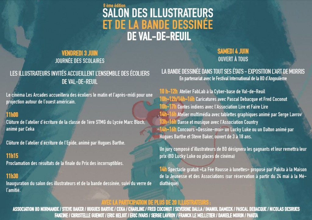 Programme du Salon des Illustrateurs 2016
