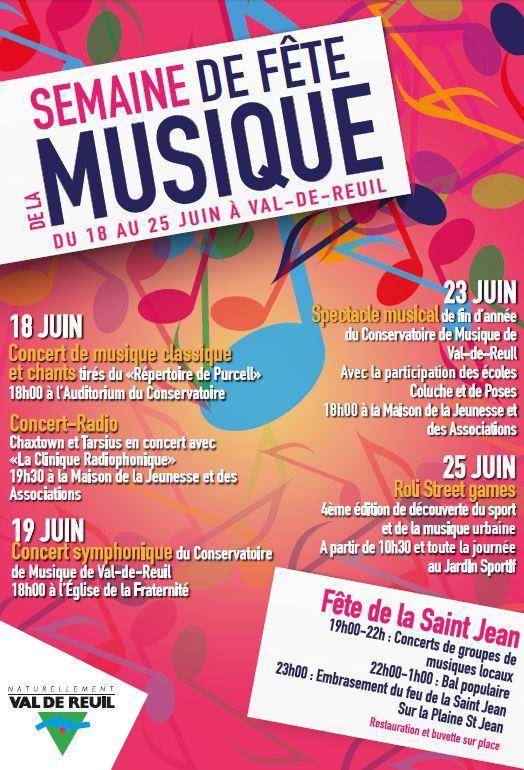 Jusqu'au samedi 25 juin c'est la semaine de la musique à Val-de-Reuil !