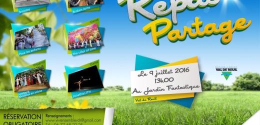 Repas partage le 9 juillet ou le Vivre Ensemble à Val-de-Reuil