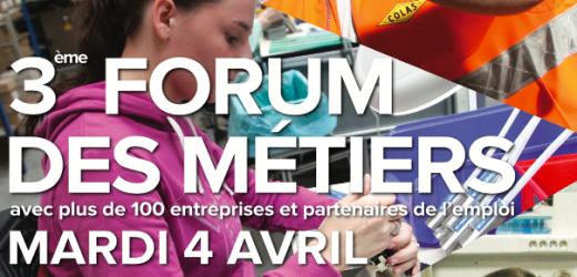 Tous au Forum des Métiers le 4 avril
