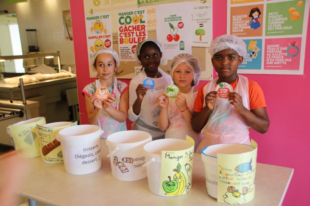 Lutte contre le gaspillage alimentaire à l'école Louise Michel