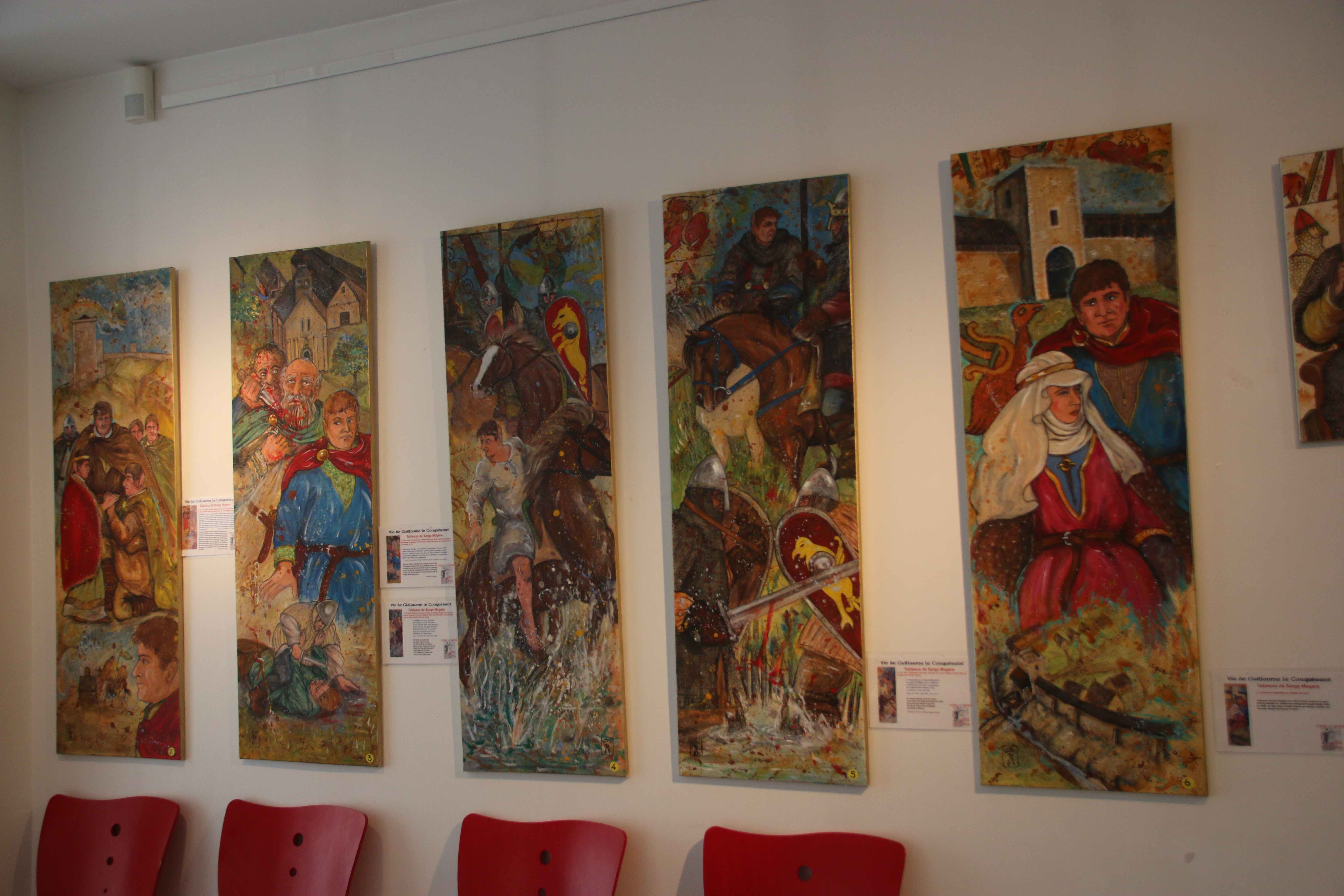 une exposition sur la vie de Guillaume le Conquérant, signée Serge Mogère