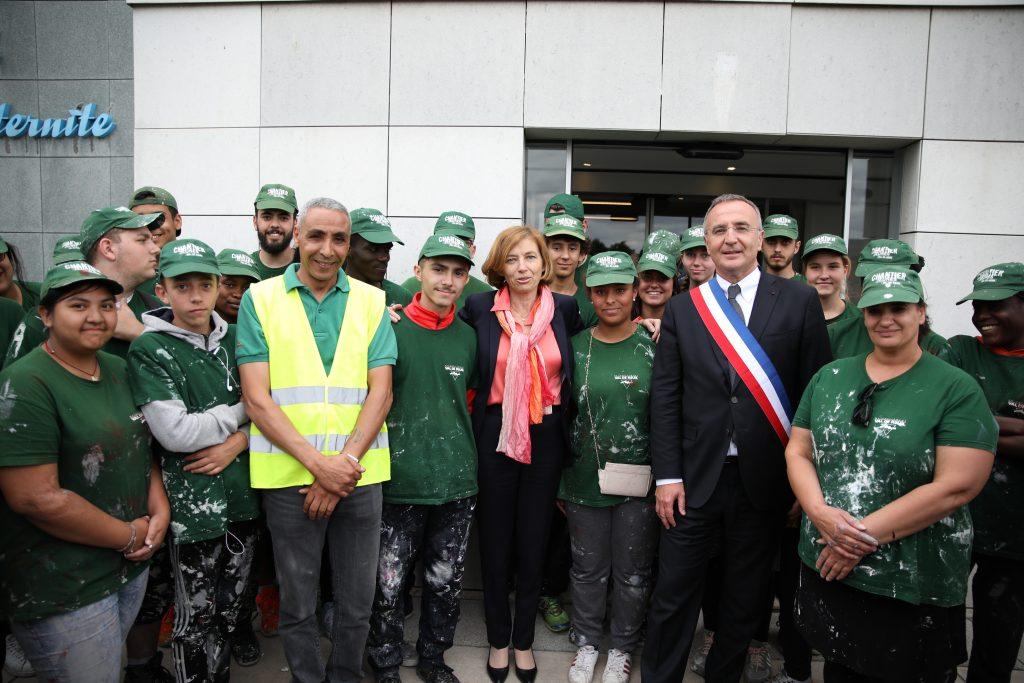 Florence Parly, Ministre des Armées à Val de Reuil - rencontre avec les chantiers jeunes