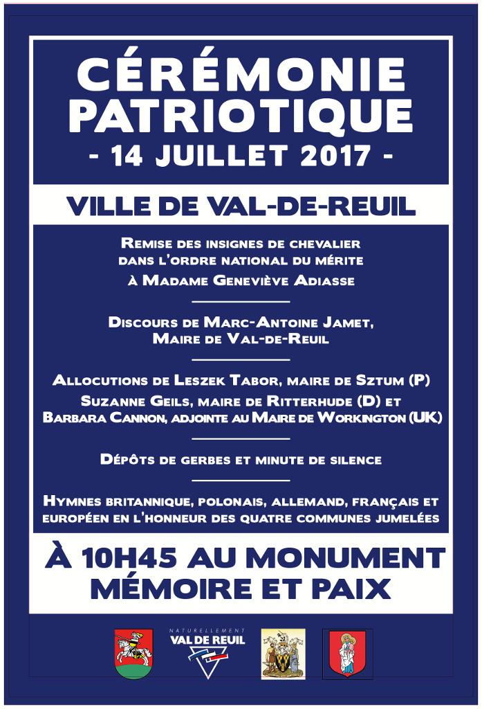 Le jumelage à Val de Reuil