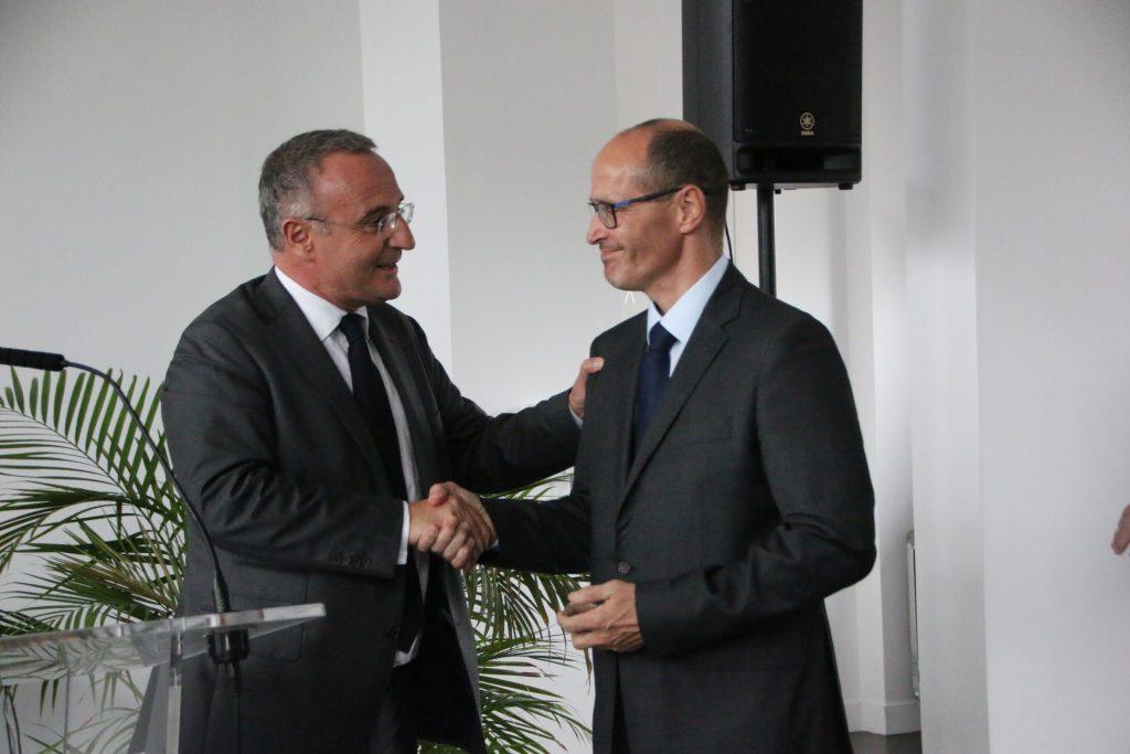 Le Commandant Alain Vernoy et Marc-Antoine Jamet