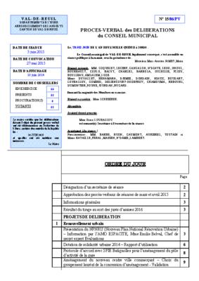 Procès-verbal du 3 Juin 2015