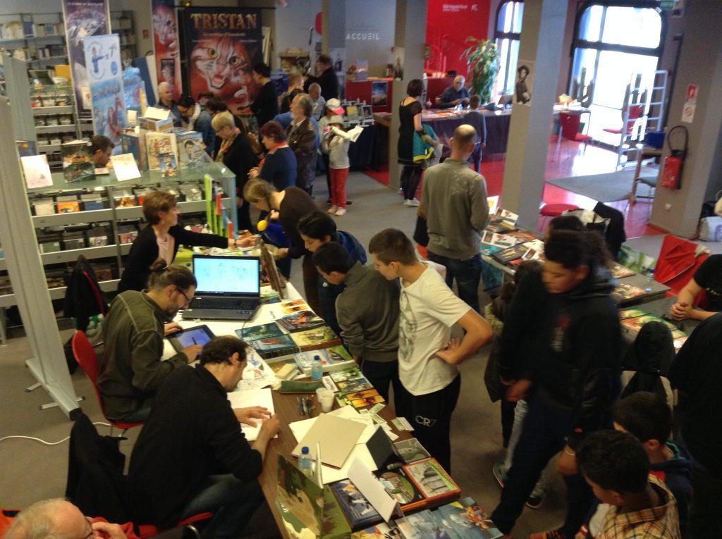 Le Salon des Illustrateurs tous les ans à la Médiathèque