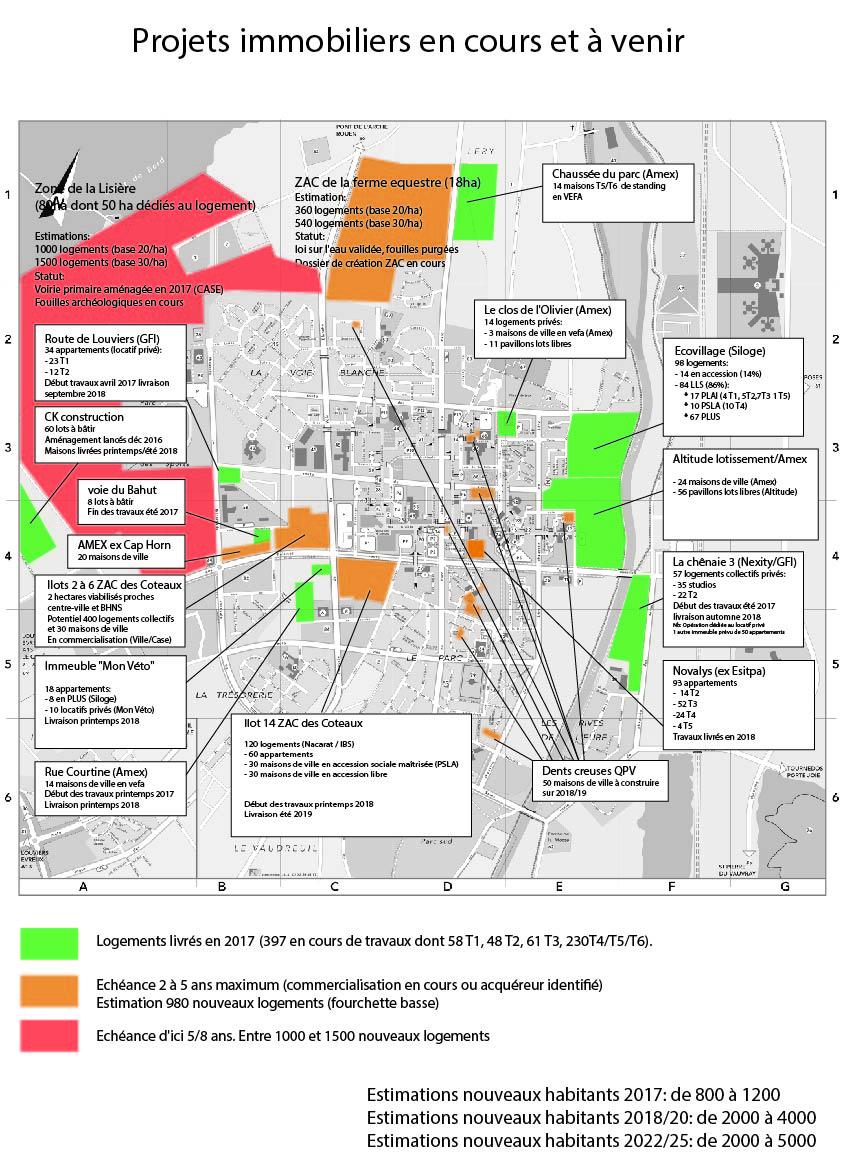 PLUi & PADD carte des projets