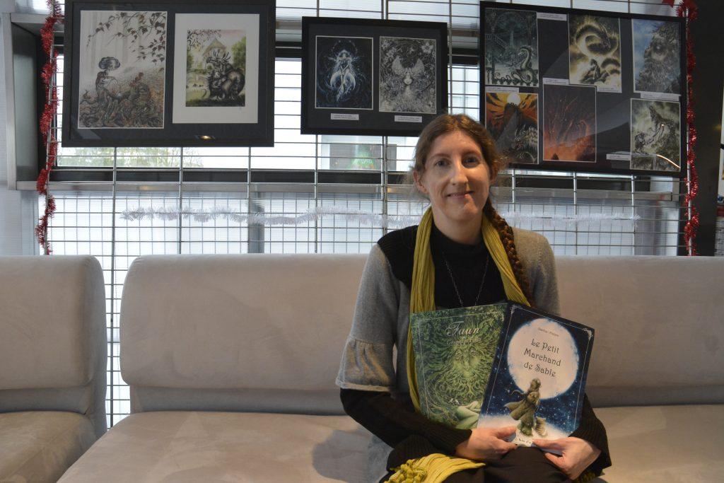 Charline présente ses derniers albums de contes