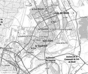 Carte de Val-de-Reuil