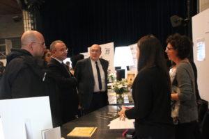 Marc-Antoine Jamet avec les maires de Clichy et Montfermeil