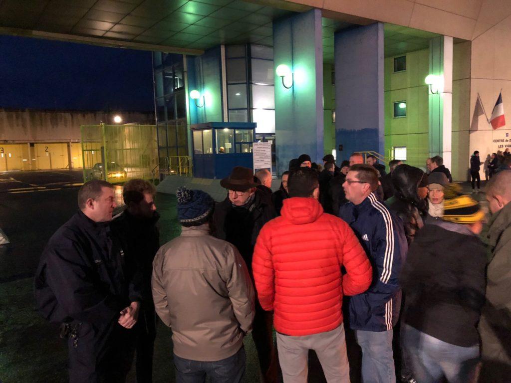 Jean-Jacques Coquelet venu apporter ce matin le soutien de la municipalité