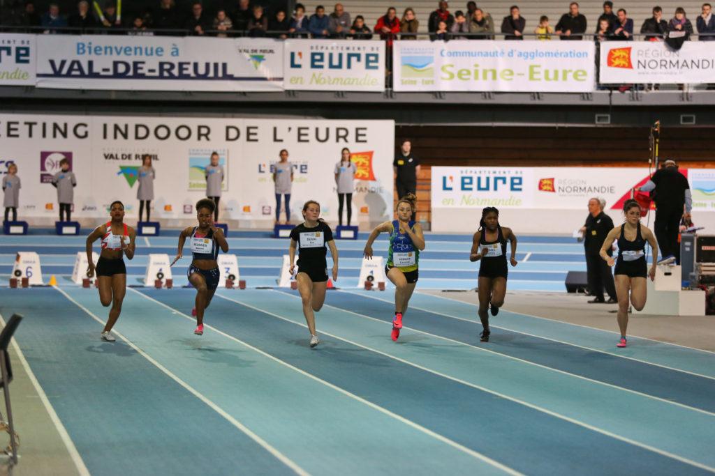 Courses et sauts féminins comme masculins