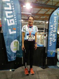 Danielle Réty, médaille d'or sur 3000 mètres