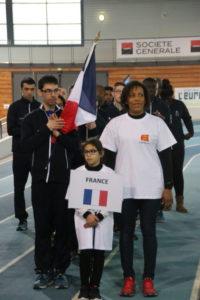 Porte drapeau de l'équipe de France