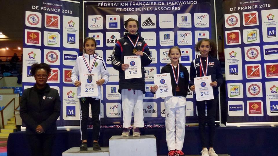 Iman TIGHLALINE vice-championne de France Cadette !
