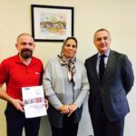 Latifa Ibn Zieten (au centre) avec Marc-Antoine Jamet et le directeur de l'EPIDE il y a quelques semaines