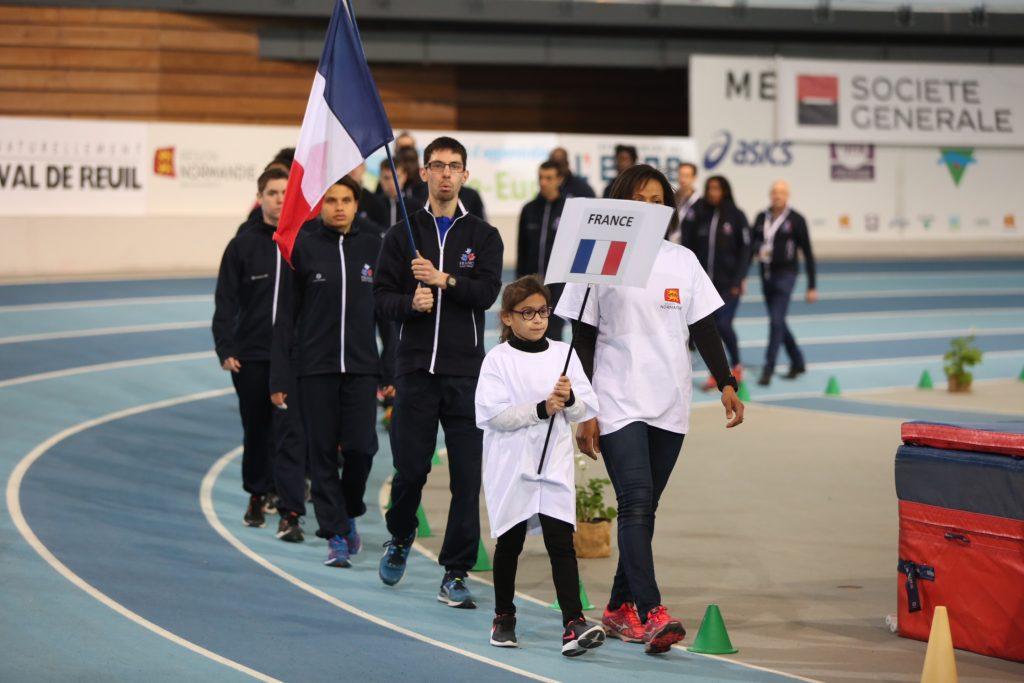 Saby Chevalme porte fièrement le drapeau français
