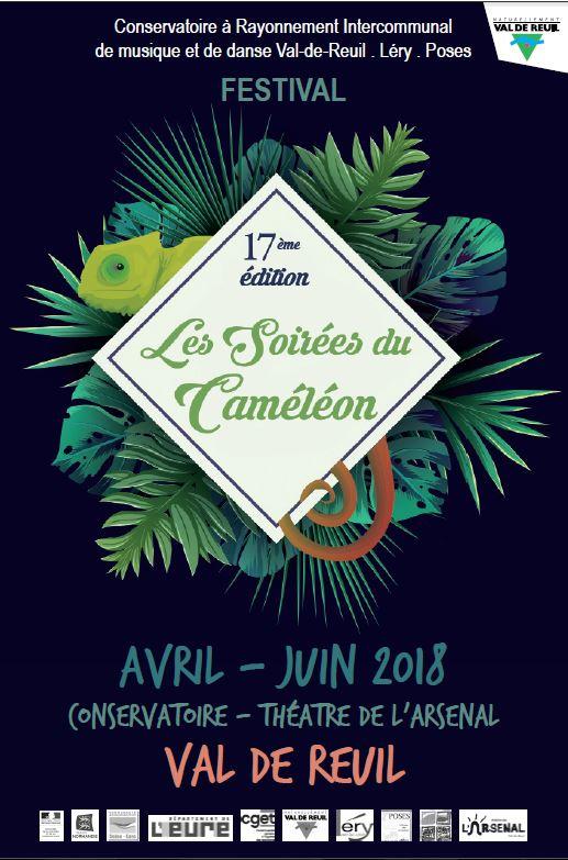 Affiche Les soirées du Caméléon