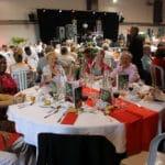 Banquet des Seniors 2018 - En configuration banquet - utilisation de la salle d'échauffement de 900 m2