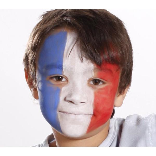 Séance maquillage aux couleurs de la France
