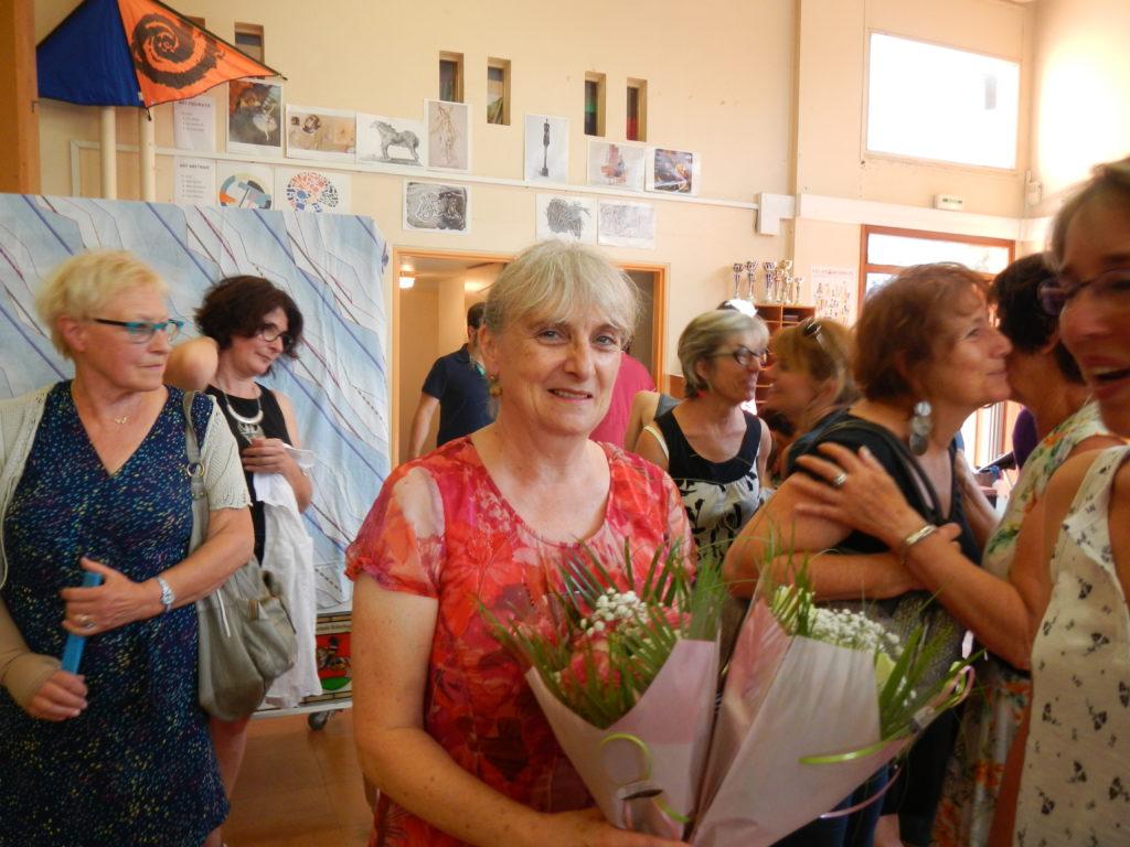 Annie Demarly, une femme heureuse, une retraitée active et honorée