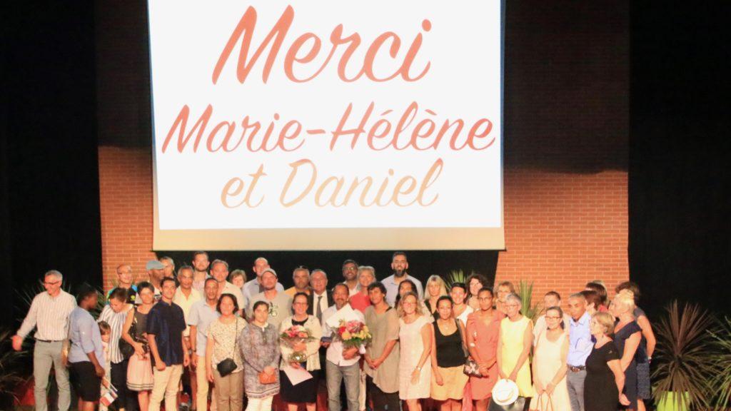 C'est entouré de nombreux collègues et amis que Marie-Hélène Bonabal et Daniel Harnist ont fêté leur départ en retraite