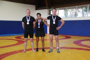 Stéphane Toutain, Natalia Yon et Gilles Yon, médaillés aux rencontres nationales vétéran