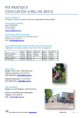 L'éducation à Val-de-Reuil